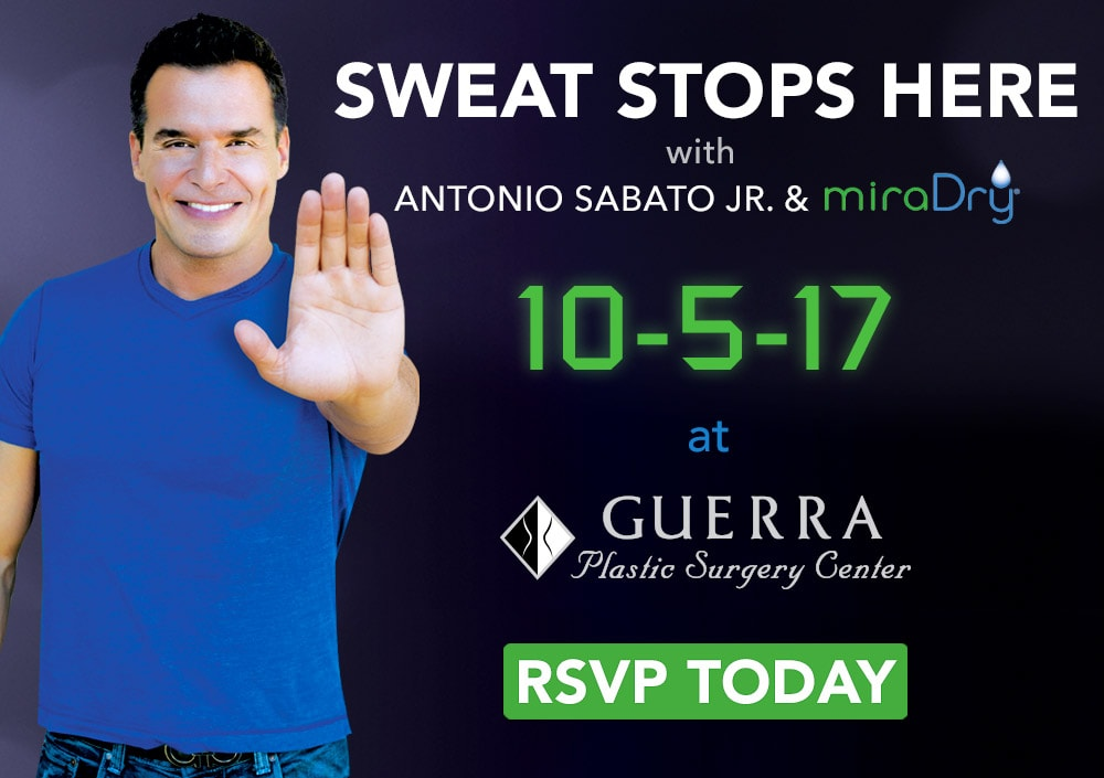 Sweat Stops Here with Antonio Sabato Jr. and miraDry at Guerra Plastic Surgery Center