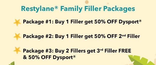 Restylane Family Fillers Packages